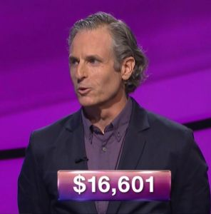Tom Blake, tonight's Jeopardy! winner (for the October 19, 2017 episode).