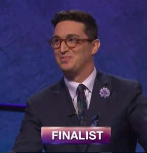 Buzzy Cohen, today's Jeopardy! winner (for the November 14, 2017 episode.)