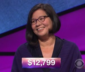 Kara Chandler, tonight's Jeopardy! winner (for the November 3, 2017 episode.)