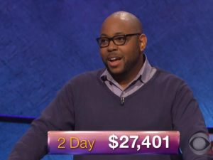 Brandon Brooks, today's Jeopardy! winner (for the January 8, 2018 episode.)