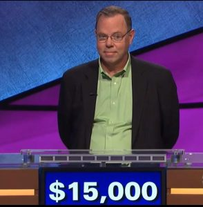 Sean Sullivan, today's Jeopardy! winner (for the January 4, 2018 episode.)