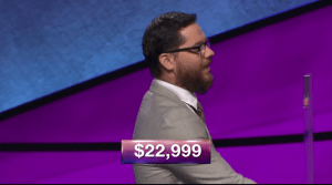 Frank Lang, today's Jeopardy! winner (for the February 13, 2018 episode.)