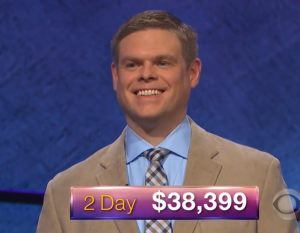 Lane Flynn, today's Jeopardy! winner (for the March 8, 2018 episode.)