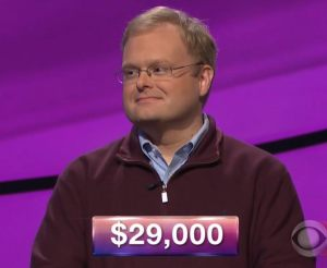 Zach Dark, today's Jeopardy! winner (for the March 12, 2018 episode.)