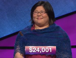 Diana Hsu, today's Jeopardy! winner (for the June 13, 2018 episode.)