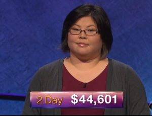 Diana Hsu, today's Jeopardy! winner (for the June 14, 2018 episode.)