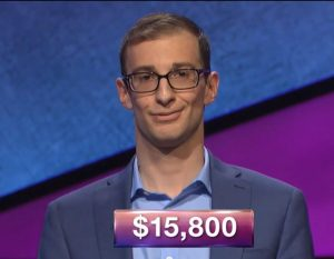 Jordan Nussbaum, today's Jeopardy! winner (for the June 22, 2018 game.)