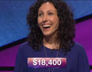 Michelle Cabral, today's Jeopardy! winner (for the July 12, 2018 episode.)