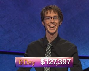 Ryan Fenster, today's Jeopardy! winner (for the July 18, 2018 episode.)