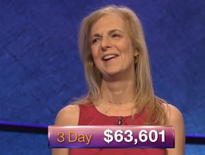 Suzanne Koppelman, today's Jeopardy! winner (for the July 4, 2018 episode.)