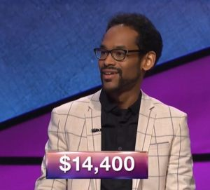 Wes Hazard, today's Jeopardy! winner (for the July 9, 2018 episode.)