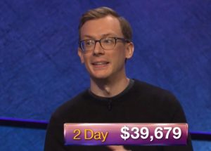 Alex Schmidt, today's Jeopardy! winner (for the October 9, 2018 game.)