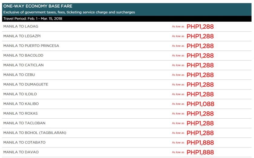 PAL Seat Sale - http://thejerny.com