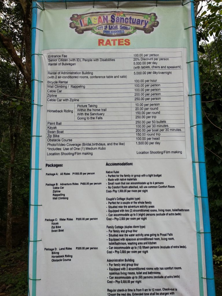 Ilagan Sanctuary rates - http://thejerny.com