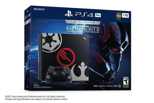Limited Edition Star Wars Battlefront II PS4 Pro bundle