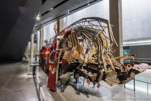 Mangled Fire Truck inside 9/11 Museum