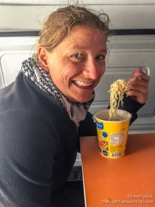 Lunch in the Van Punta Arenas