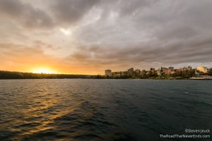 Leaving Manly Harbour