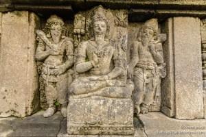 Close up of Stonework at Prambanan Temple