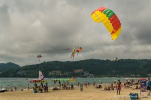 Crazy Parasail Rider at Patong Beach