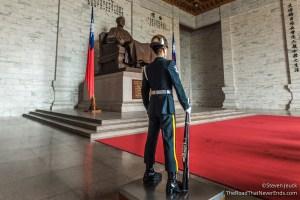 Guarding statue of Chiang Kai-shek