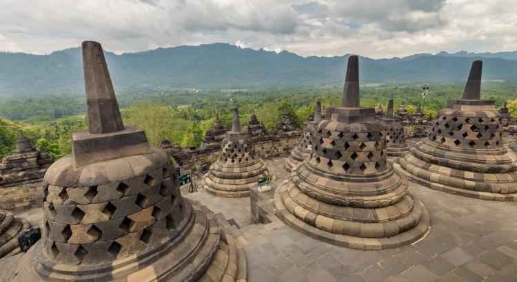 Top of Borobudur Temple