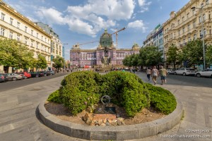 Wenceslas Square and Czech National Museum