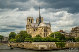 Backside of Notre Dame