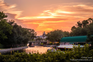 Sunset from France at Epcot