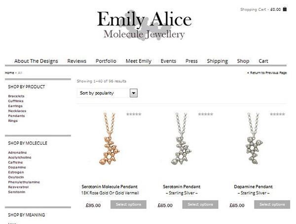 Emily Alice Molecule Jewellery