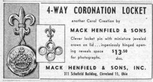 Mack Henfield and Sons 4-Way Coronation Locket 19530417 WWD