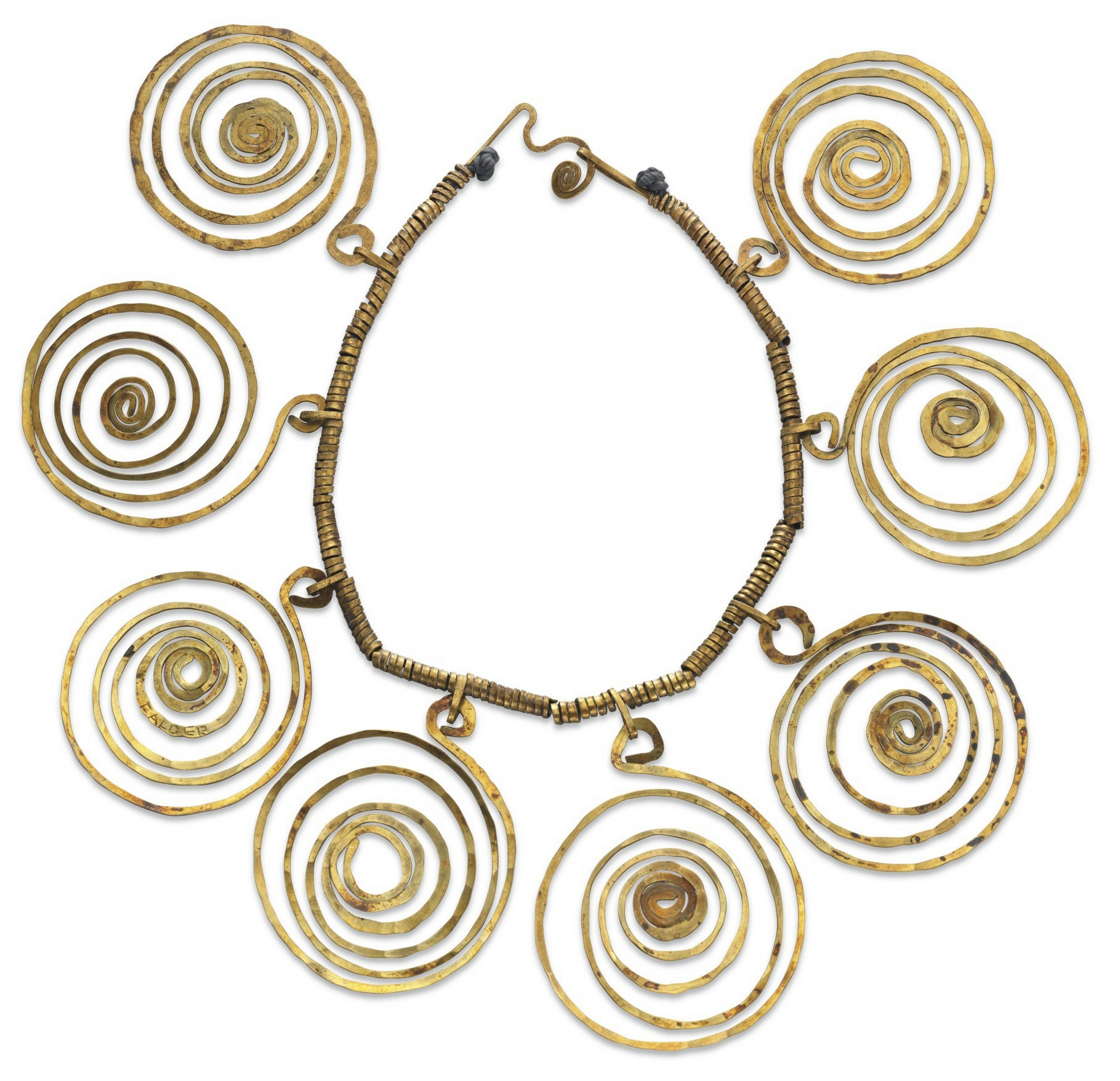 Alexander Calder - Necklace. Gold. Photo from http://thejewelryloupe.com