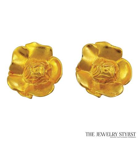 Vintage Kenzo Floral Earrings