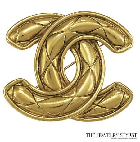 "Vintage Chanel Double ""C"" Brooch"