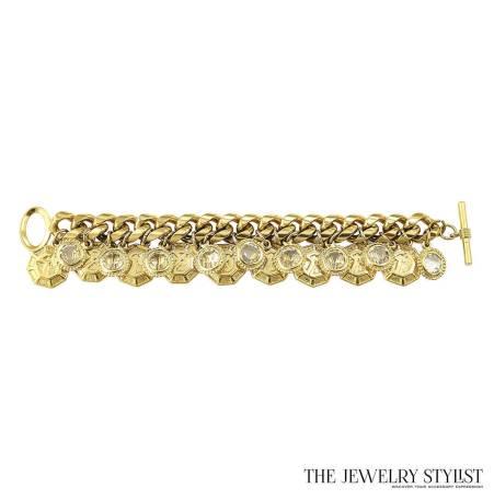Vintage Gold-tone St. John Charm Bracelet
