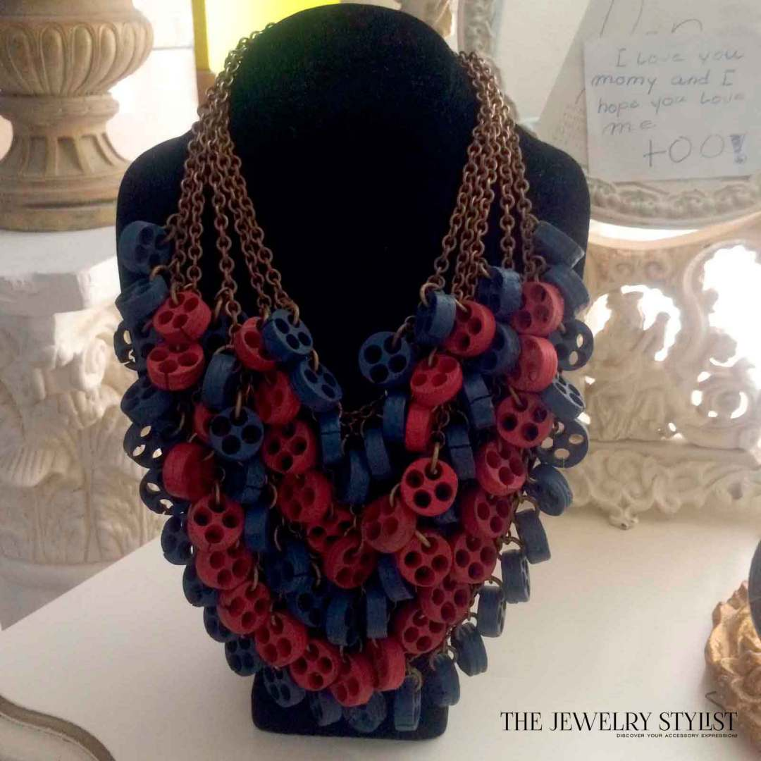 Fabulous Huge 1930s Statement Necklace Miriam Haskell-esque
