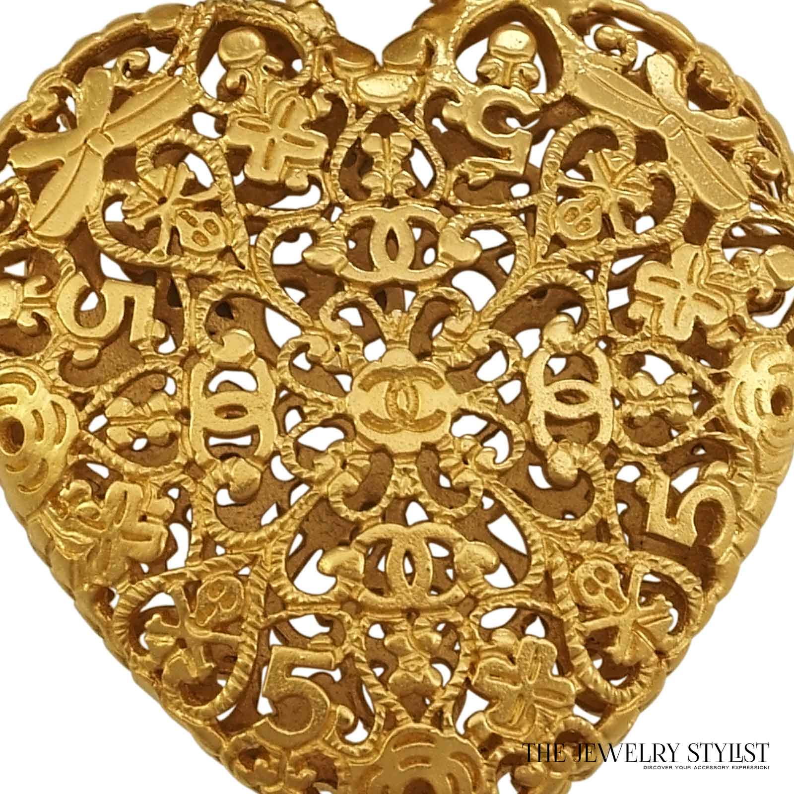 Vintage chanel heart pendant necklace - Vintage chanel ...