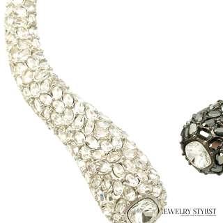 Kenneth J. Lane Crystal Rhinestone Spring Hinge Collar Necklace (KJL) Upclose