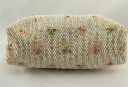 Wonderful Reversible Beaded Summer Floral Purse Bottom View