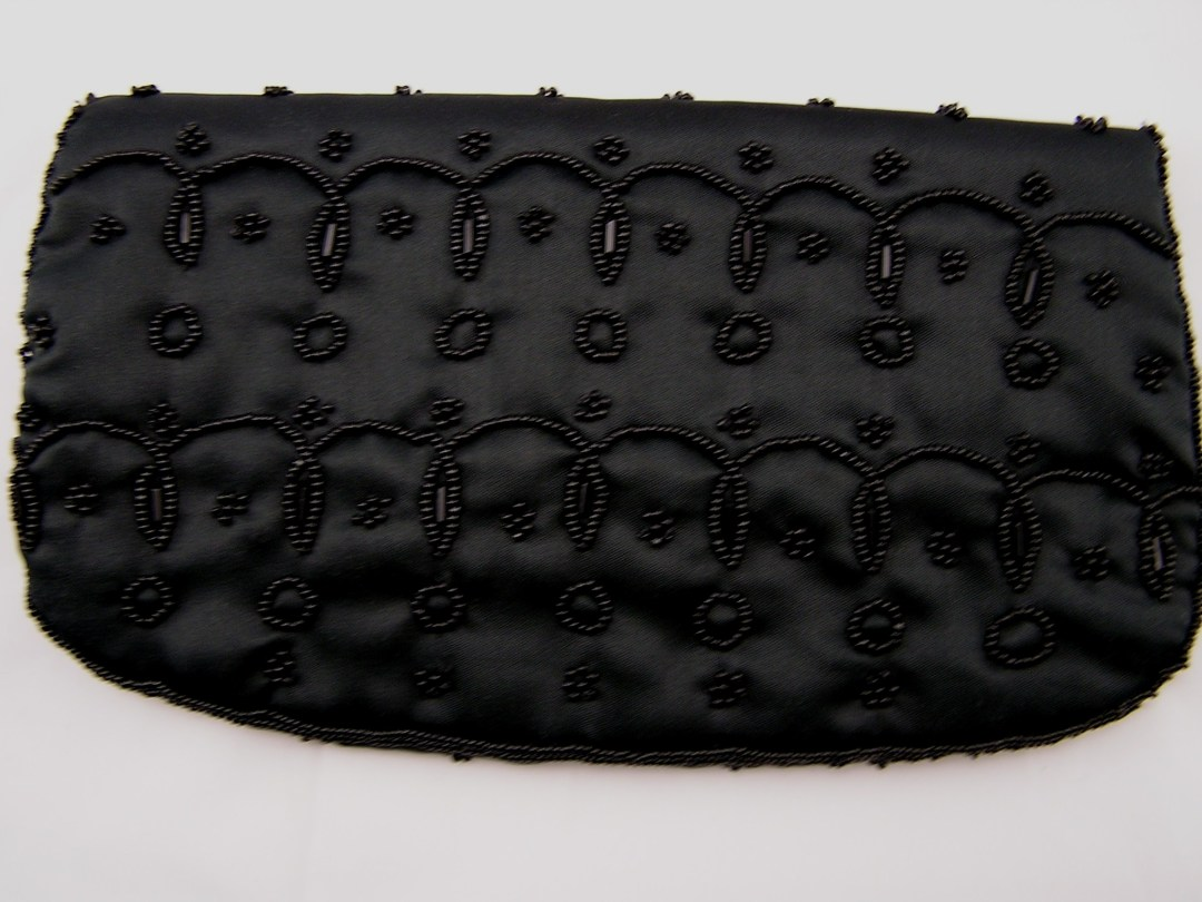 1950s Evening Beaded Clutch Purse