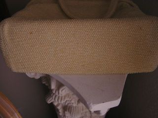 Fabulous 1950-1960s Cream Colored Beaded Purse Bottom View