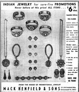 Mack Henfield and Sons Indian Jewelry WWD 19500908