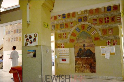 De Piellat's paintings adorn the walls of the hospital. Credit: courtesy of the Israel Antiquities Authority