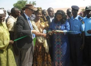 Photo Credit: MASHAV/ Senegal's Minister for Women, Family and Children, Anta Sarr, and Israel's Ambassador to Senegal, Eli Ben Tura, at the farm inauguration ceremony in Fatick.