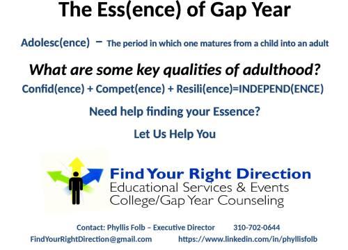 Gap year 2