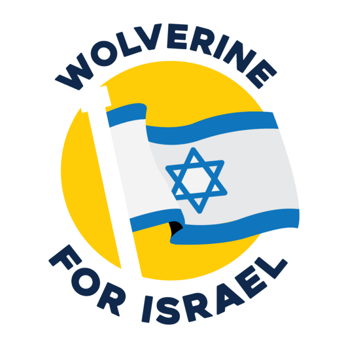 Wolverines for Israel Logo