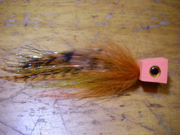 Foam popper fly marabou saddle hackle flash pike bass trout panfish