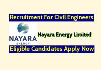 Nayara Energy Ltd Recruitment For Civil Engineers