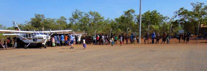 A ceremony to get the body (in a coffin) onto the plane at Elcho Island
