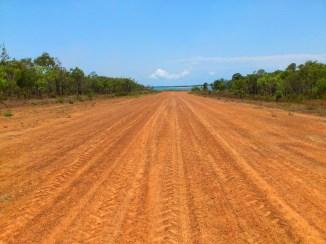 Garrathalala has beach at each end of the airstrip.